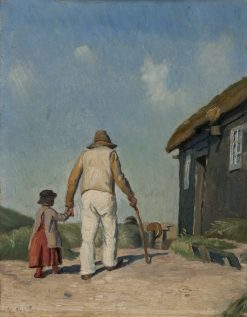 Blind Christian. Study | Michael Peter Ancher | Oil Painting