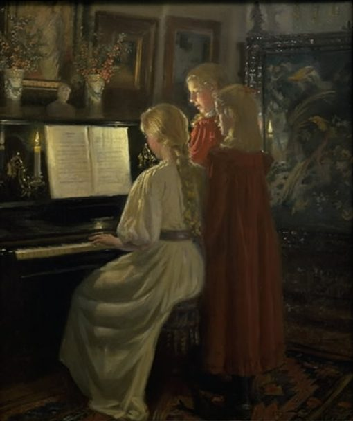Children Singing | Michael Peter Ancher | Oil Painting