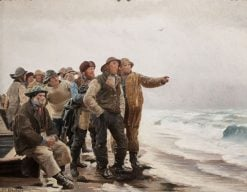 Will he round the point? | Michael Peter Ancher | Oil Painting
