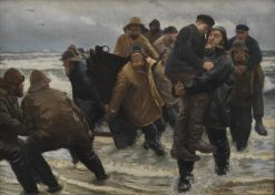 A Crew Rescued | Michael Peter Ancher | Oil Painting