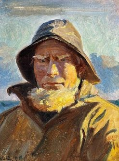 Fisherman Lars Kruse from Skagen | Michael Peter Ancher | Oil Painting