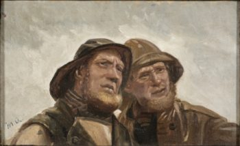 Two Fishermen. Study | Michael Peter Ancher | Oil Painting