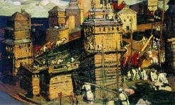 Building a Town | Nicholas Roerich | Oil Painting