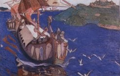 Guests from Overseas | Nicholas Roerich | Oil Painting