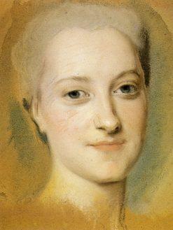 Princess Maria Christina of Saxony | Maurice Quentin de La Tour | Oil Painting