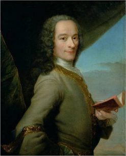 Portrait of Voltaire | Maurice Quentin de La Tour | Oil Painting