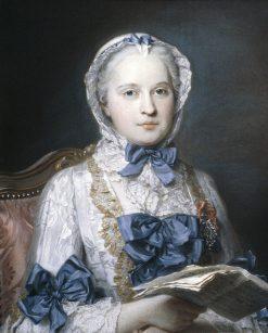 Portrait of Marie Josèphe of Saxony | Maurice Quentin de La Tour | Oil Painting