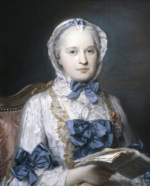 Portrait of Marie Josèphe of Saxony   Maurice Quentin de La Tour   Oil Painting
