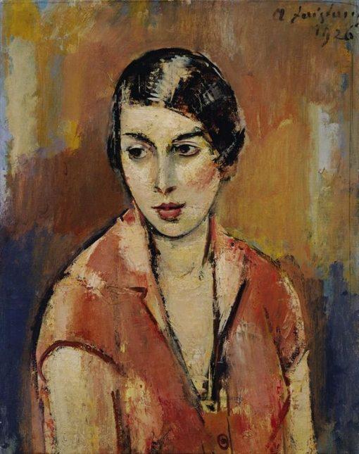 Portrait of a Young Woman   Anton Faistauer   Oil Painting