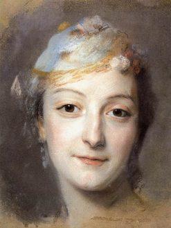 Marie Fel | Maurice Quentin de La Tour | Oil Painting