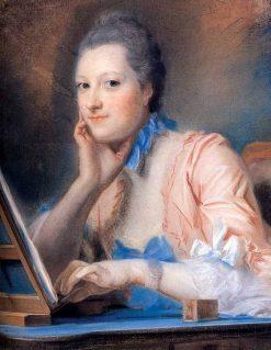 Madame de La Pouplinière | Maurice Quentin de La Tour | Oil Painting