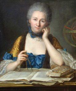 Madame Du Chatelet at her Desk | Maurice Quentin de La Tour | Oil Painting
