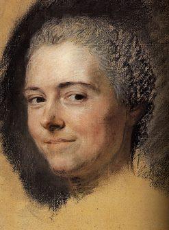 Portrait of French actress Marie Anne Botot Dangeville | Maurice Quentin de La Tour | Oil Painting