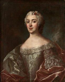 Countess Kristina Horn af Aminne   Olof Arenius   Oil Painting