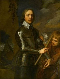 Oliver Cromwell Wearing Armour