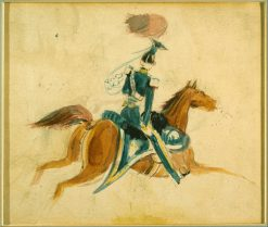Man on Horseback   Constantin Guys   Oil Painting