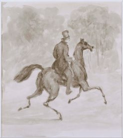 Man on Trotting Horse | Constantin Guys | Oil Painting