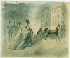 Vanity Fair   Constantin Guys   Oil Painting