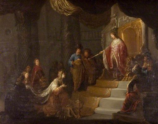 Solomon and the Queen of Sheba   Willem de Poorter   Oil Painting