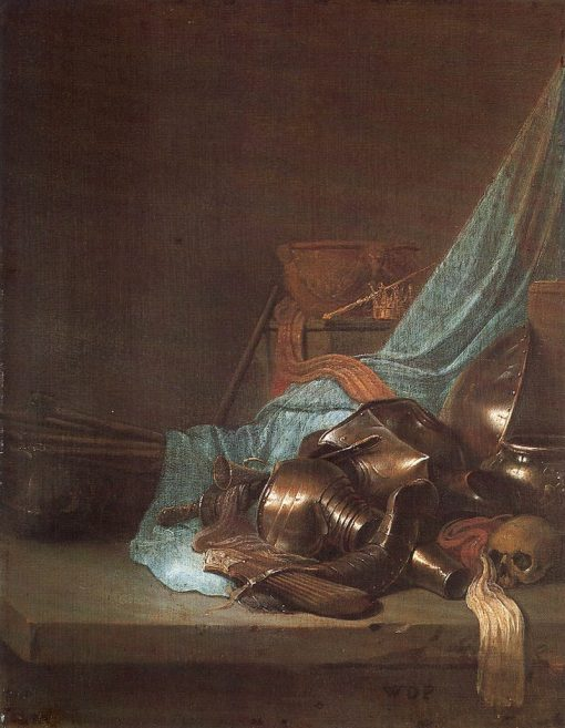 Still Life with Weapons and Banners | Willem de Poorter | Oil Painting