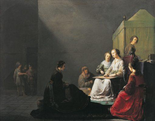 Lucrece at work | Willem de Poorter | Oil Painting