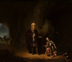 Saul and David in the cave of En-Gedi | Willem de Poorter | Oil Painting