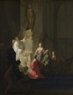 The Worship of King Solomon | Willem de Poorter | Oil Painting