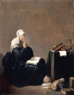 A Woman Praying | Willem de Poorter | Oil Painting