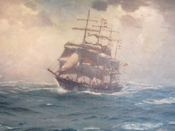 The Gale Beaking | Thomas Jacques Somerscales | Oil Painting