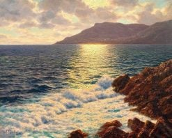 View of Monte Carlo in the evening sunshine | Ivan Fedorovich Choultse | Oil Painting