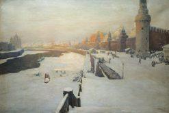 Winter in Moscow | Ivan Kalmykov | Oil Painting