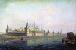 View of the Moscow Kremlin | Maxim Vorobyov | Oil Painting
