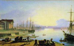 Sunrise in St. Petersburg | Maxim Vorobyov | Oil Painting
