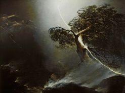 Oak Tree Hit by Lightining | Maxim Vorobyov | Oil Painting