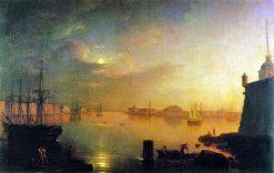 Moonlit Night in St. Petersburg | Maxim Vorobyov | Oil Painting
