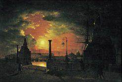 Night in St. Petersburg | Maxim Vorobyov | Oil Painting