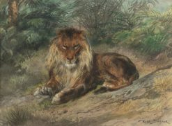 The Old Monarch | Rosa Bonheur | Oil Painting