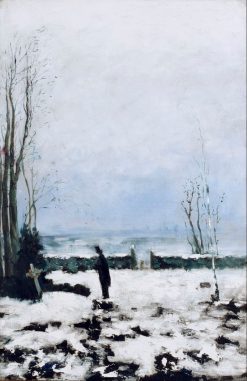 The Cemetery | Carl Fredrik Hill | Oil Painting