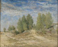 Gravel Slope | Carl Fredrik Hill | Oil Painting