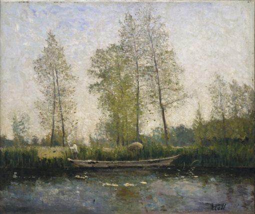 Seine. Motif from St Germain | Carl Fredrik Hill | Oil Painting