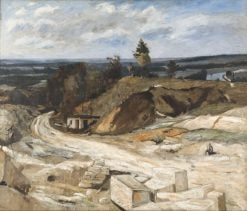 Stonequarry by the River Oise | Carl Fredrik Hill | Oil Painting
