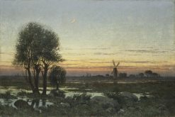 Autumn Landscape in the Glow of Sunset | Per Ekström | Oil Painting