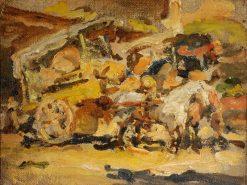 Carretelas en la Vega | Juan Francisco Gonzalez Escobar | Oil Painting