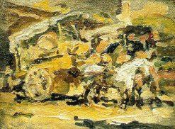 Carretelas de La Vega | Juan Francisco Gonzalez Escobar | Oil Painting