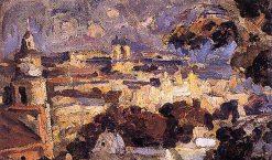 Panorama of Santiago | Juan Francisco Gonzalez Escobar | Oil Painting