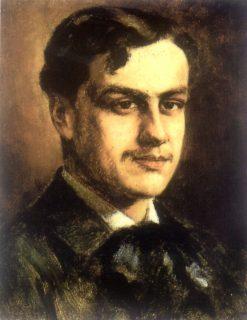 Portrait of Chilean Writer Augusto dHalmar | Juan Francisco Gonzalez Escobar | Oil Painting