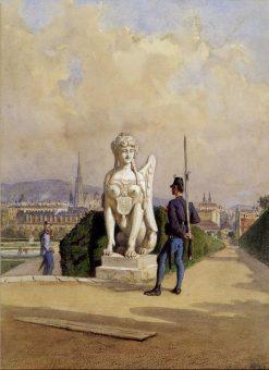 Kurzweil auf der Wache im Garten des Schlosses Belvedere in Wien | Carl Goebel | Oil Painting