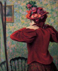 The Red Jacket | Federico Zandomeneghi | Oil Painting