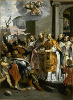 Saint Bernard and the Duke of Aquitaine   Maarten Pepyn   Oil Painting