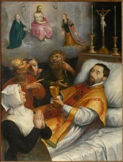 Pastor Robert Hubar on his deathbed | Maarten Pepyn | Oil Painting